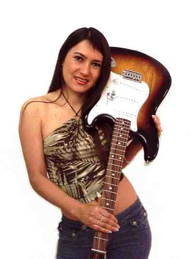 Alba and Billy Sheehan Guitar