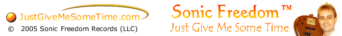 JustGiveMeSomeTime.com Sonic Freedom LLC footer image